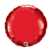 45 cm Folija balons CIR, red