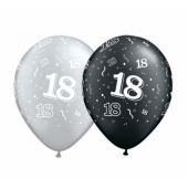Apdrukāts lateksa balons  18 inches (30 cm)