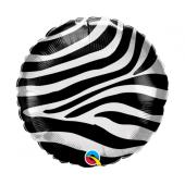 45 cm Folija balons Zebra stripes pattern