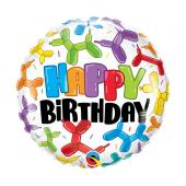 45 cm Folija balons Happy Birthday, dogs