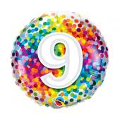 45 cm Folija balons Rainbow confetti 9