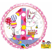 45 cm Folija balons 1 for girls