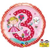 "45 cm Folija balons 3 for girls """