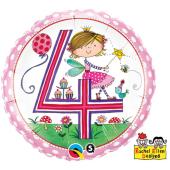 "45 cm Folija balons 4 for girls """