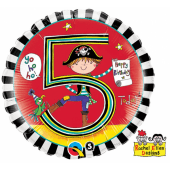 "45 cm Folija balons 5 for the boy """