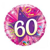 "45 cm Folija balons CIR ""60"", pink"