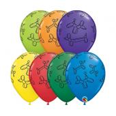 Apdrukāts lateksa balons  Dogs, QL 11