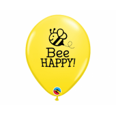 Apdrukāts lateksa balons Happy Bee (30 cm)