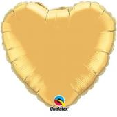 45 cm Folija balons Heart, gold