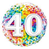 """45 cm Folija balons CIR """"40"""" Confetti"""