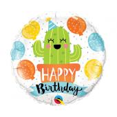 45 cm Folija balonsBirthday Party Cactus
