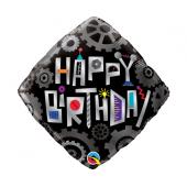 45 cm Folija balons SHP Birthday Robot Cogwheels