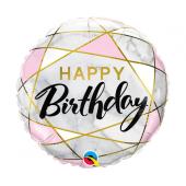 45 cm Folija balons CIR Birthday Marble
