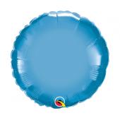 45 cm Folija balons RND Chrome blue Plain foil