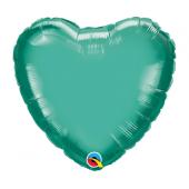 45 cm Folija balons HRT Chrome green Plain foil