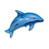 """Folijas balons 24 """"FX - Dolphin, zila"""