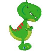 Шар (38''/97 см) Фигура, Динозавр Тираннозавр, Зеленый, 1 шт.