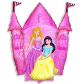 Folija figūra, princeses pils, rozā, 1 gb