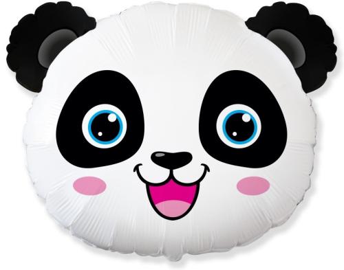 Шар (25''/64 см) Фигура, Голова, Маленькая Панда, 1 шт.