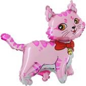 Шар, Милый котенок, Розовый, 1 шт.