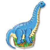 Шар (43''/109 см) Фигура, Динозавр Диплодок, Синий, 1 шт.