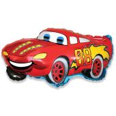 Шар (32''/81 см) Фигура, Гоночная машина, Красный, 1 шт.