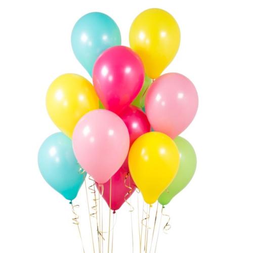 14 lateksa baloni tropu krāsās