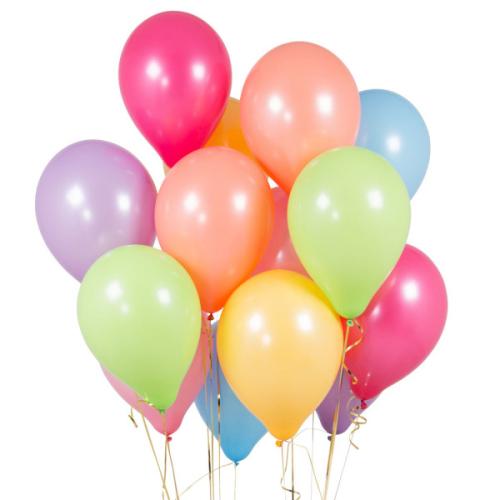 Iepakojums ar 14 Pastel Rainbow Party baloniem