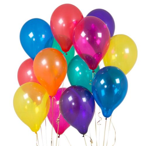 Iepakojums ar 14 Jewel Rainbow Party baloniem