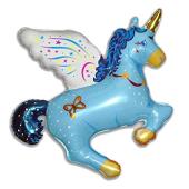 Magic Unicorn Blue FOLIJA GAISA BALONS 90 CM