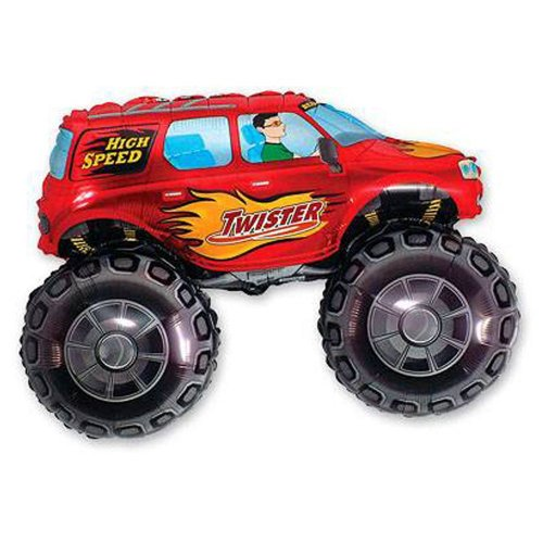 Big Wheels Red FOLIJA GAISA BALONS 90 CM