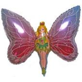 Lady Butterfly FOLIJA GAISA BALONS 100 CM