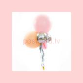 Balonu Kompozīcija 9 Ekskluzīvi Rozā Persiku krāsa 160x50 cm