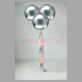 Balonu Kompozīcija 4 Ekskluzīvi Sudraba krāsa 150x50 cm