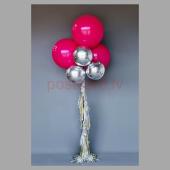 Balonu Kompozīcija 1 Ekskluzīvi Rozā Sudraba krāsa 150x50 cm