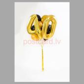 Balonu Kompozīcija 17 Ekskluzīvi Zelta Melna krāsa 150x50 cm