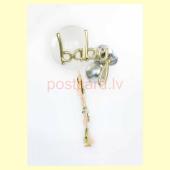 Balonu Kompozīcija 12 Ekskluzīvi Zelta Sudraba krāsa 150x50 cm