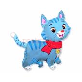 Kitten with scarf Blue FOLIJA GAISA BALONS 92 CM