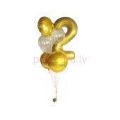 Balonu Pušķis 11 Cipars 2 150x60 cm
