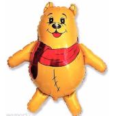 Teddy with scarf FOLIJA GAISA BALONS 85 cm