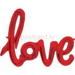 Folijas balonu vārds Love Sarkana krāsa 102 cm