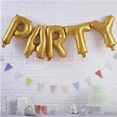 Folijas balonu kompozīcija Party Zelta krāsa 31 cm