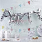 Folijas balonu kompozīcija Party Sudraba krāsa 31 cm