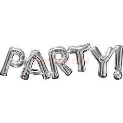 Folijas balonu vārds Party Sudraba krāsa 23 cm