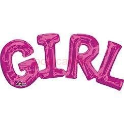 Folijas balonu vārds Girl Rozā krāsa 23 cm