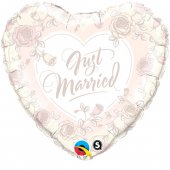 "Folijas balons ""Just married Roses"" (45 cm)"
