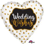 "Folijas balons ""Wedding wishes"" (45 cm)"