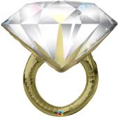 """Kāzu folijas baloni """"DIAMOND WEDDING RING"""" (94 cm)"""